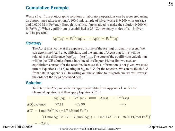 Cumulative Example