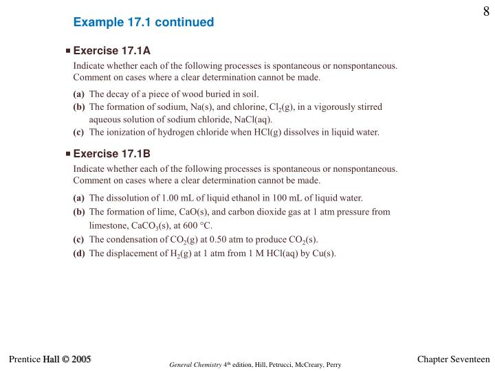 Example 17.1 continued