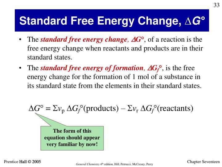 Standard Free Energy Change,