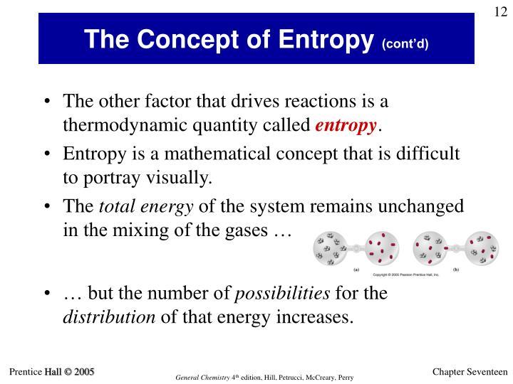 The Concept of Entropy