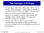 the concept of entropy1