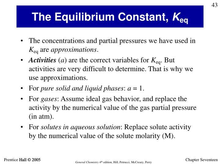 The Equilibrium Constant,