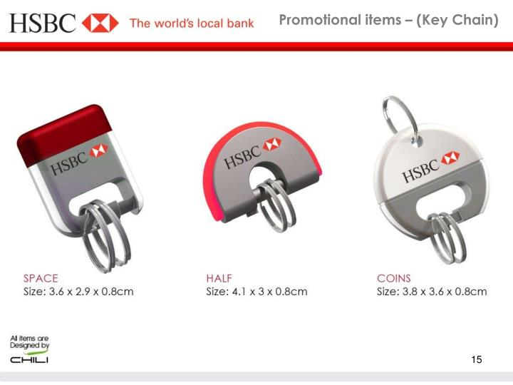 Promotional items – (Key Chain)