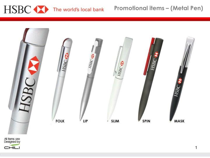 Promotional items metal pen