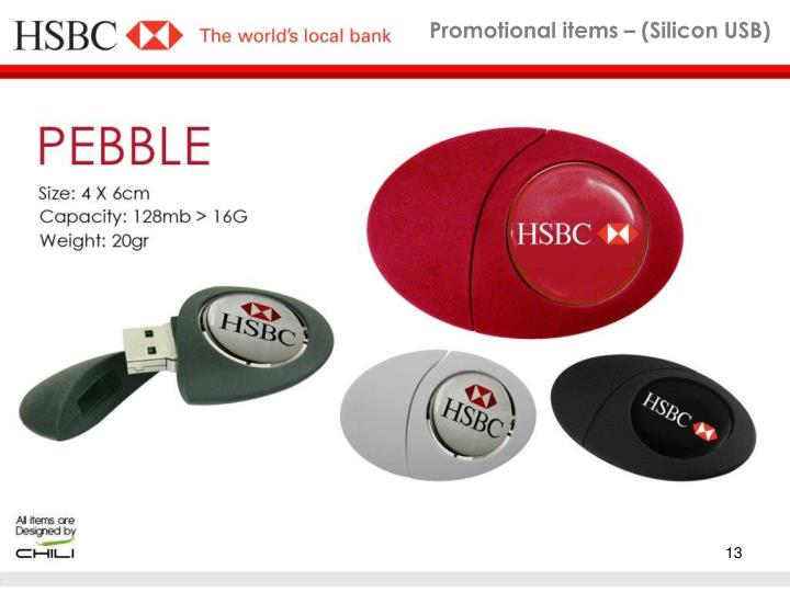 Promotional items – (Silicon USB)