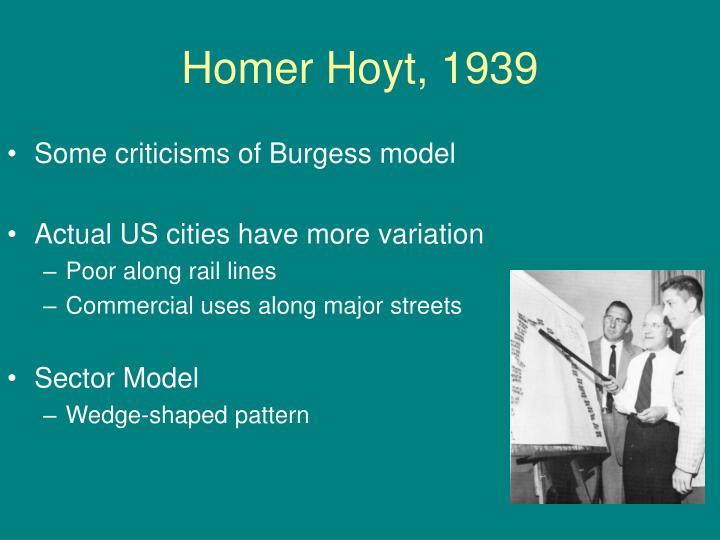 Homer Hoyt, 1939