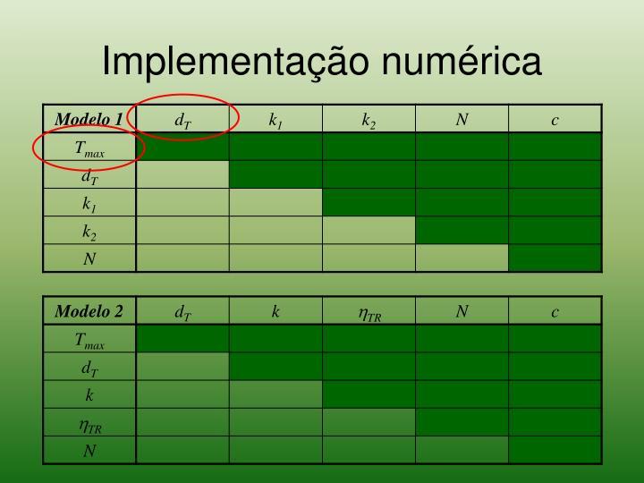 Implementação numérica