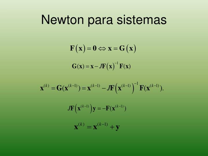 Newton para sistemas