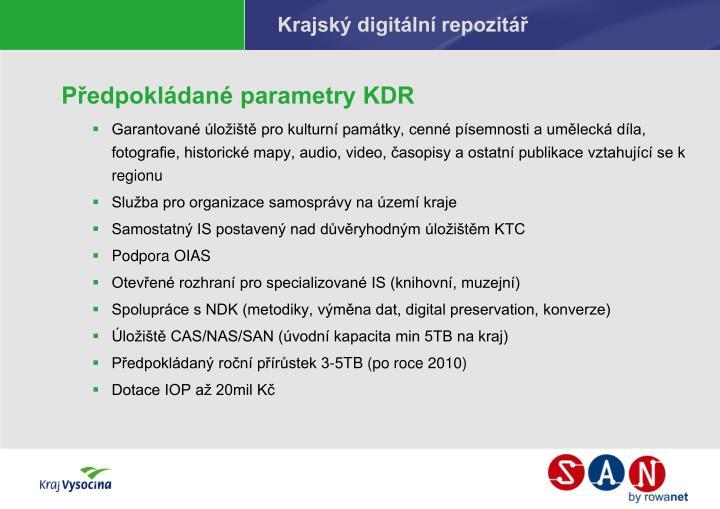 Krajský digitální repozitář