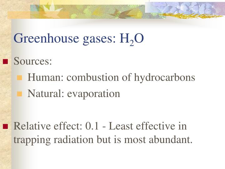 Greenhouse gases: H