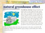 natural greenhouse effect http www elmhurst edu chm vchembook globalwarma5 html