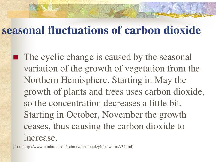seasonal fluctuations of carbon dioxide
