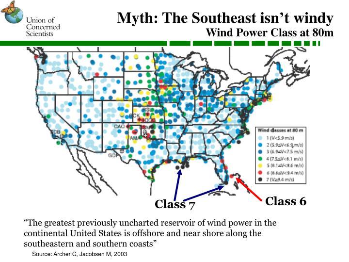 Myth: The Southeast isn't windy