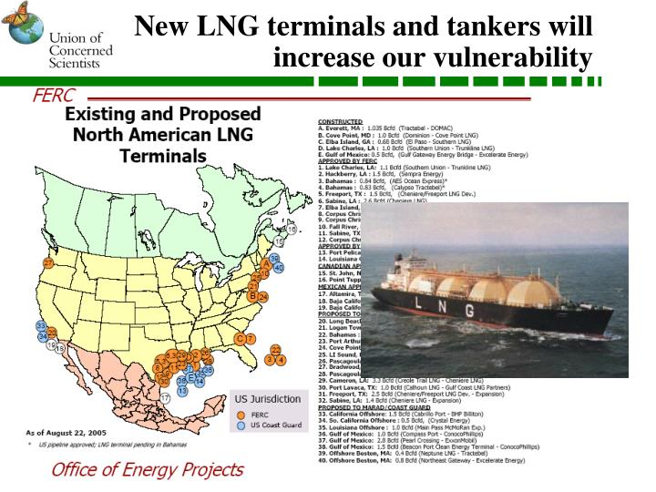 New LNG terminals and tankers will increase our vulnerability