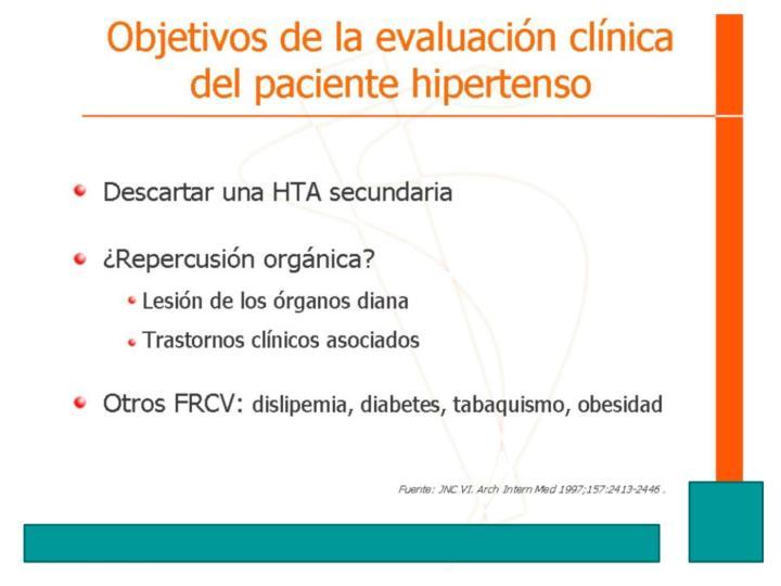 Objetivos de la evaluación clínica