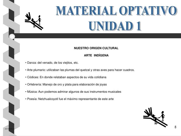 MATERIAL OPTATIVO