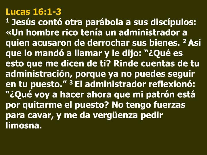 Lucas 16:1-3