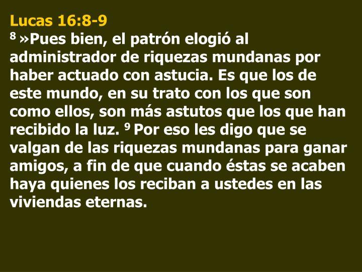 Lucas 16:8-9