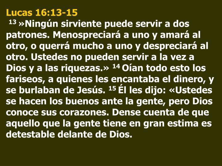 Lucas 16:13-15