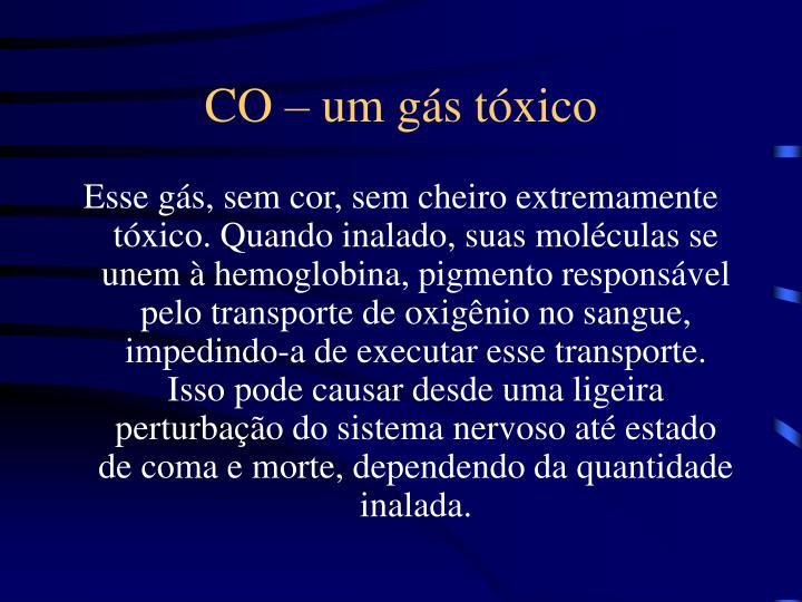 CO – um gás tóxico