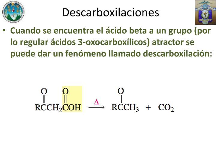 Descarboxilaciones