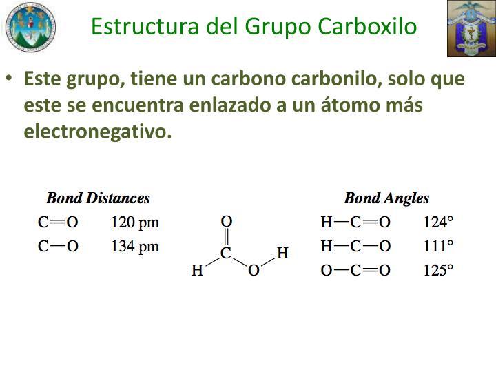 Estructura del Grupo Carboxilo