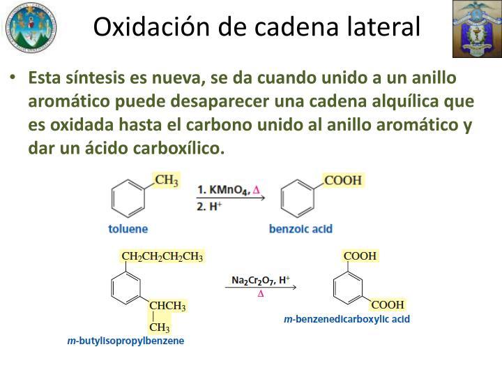 Oxidación de cadena lateral