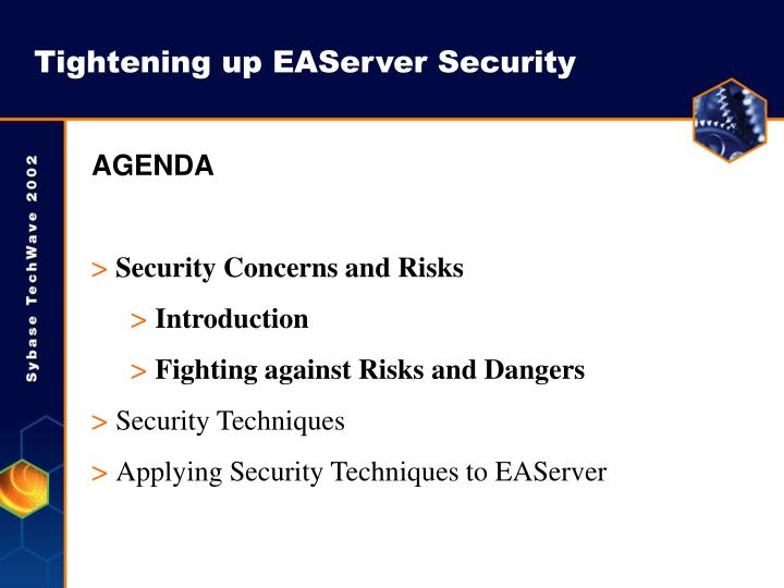 Tightening up EAServer Security