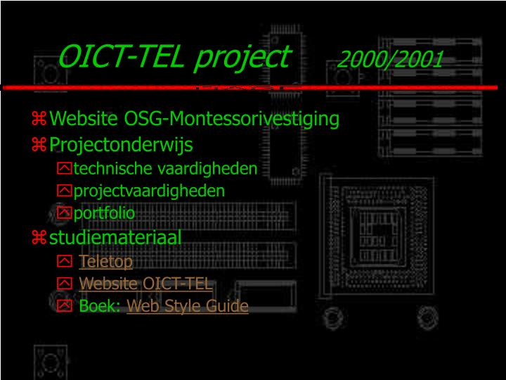 OICT-TEL project