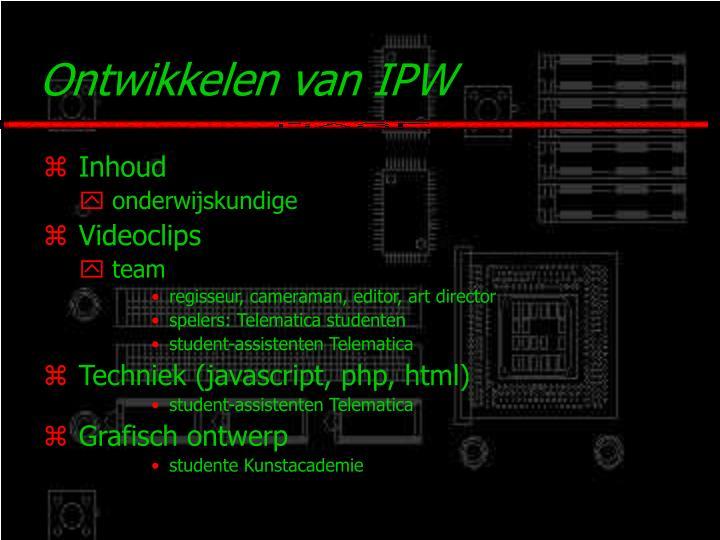 Ontwikkelen van IPW