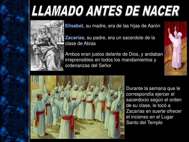 LLAMADO ANTES DE NACER