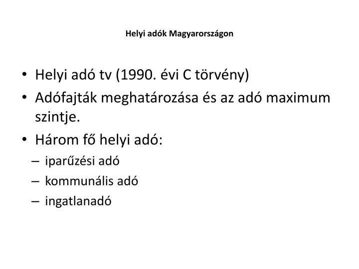 Helyi adók Magyarországon