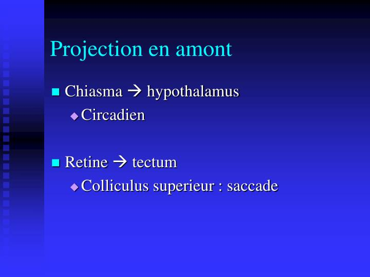 Projection en amont