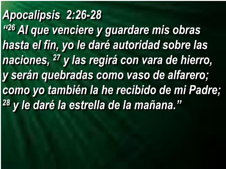 Apocalipsis  2:26-28