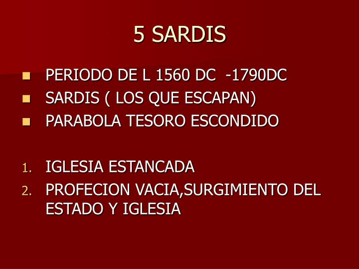 5 SARDIS