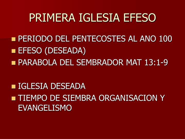 PRIMERA IGLESIA EFESO