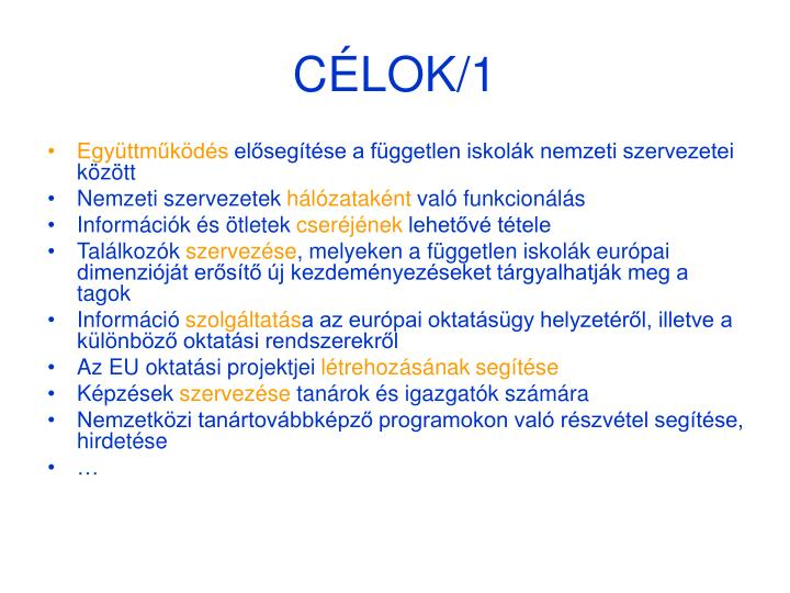 CÉLOK/1