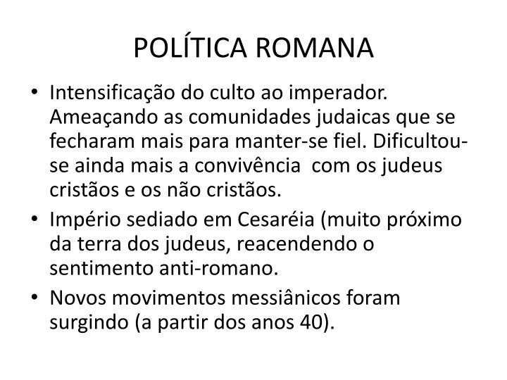 POLTICA ROMANA