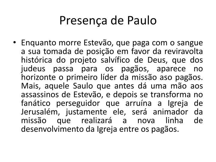 Presena de Paulo
