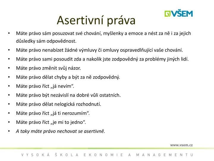 Asertivní práva