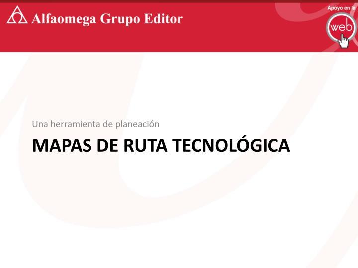 MAPAS DE RUTA TECNOLÓGICA