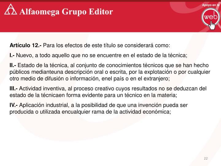 Artículo 12.-