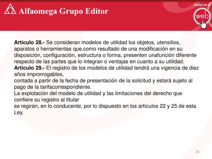 Artículo 28.-