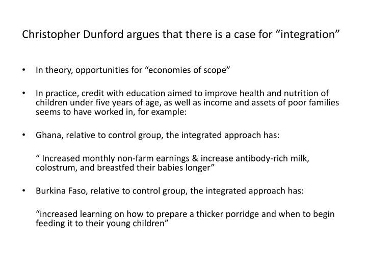 """Christopher Dunford argues that there is a case for """"integration"""""""