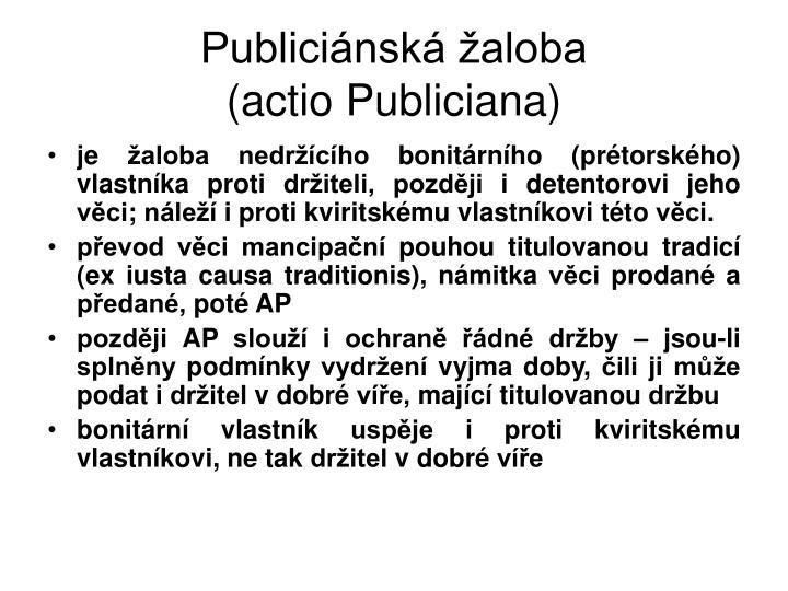 Publiciánská žaloba