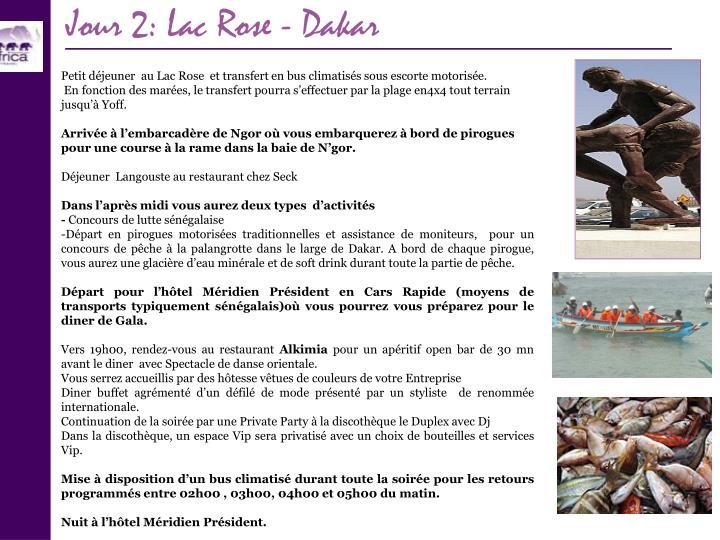 Jour 2: Lac Rose - Dakar