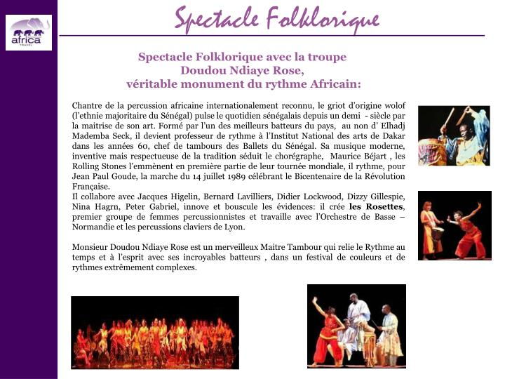 Spectacle Folklorique