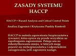 haccp hazard analysis and critical control points