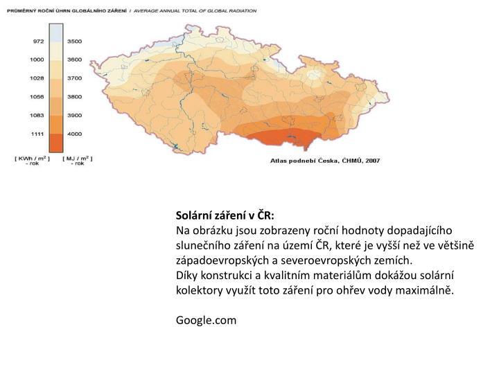 Solární záření v ČR: