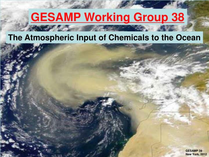 GESAMP Working Group 38